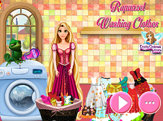 Rapunzel Washing Clothes