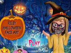 Riley Halloween Face Art