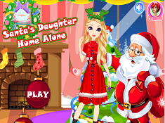 Santas Daughter Home Alone