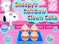 Snoopy Rainbow Clown Cake