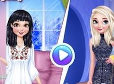 Snow White vs Elsa Brunette vs Blonde