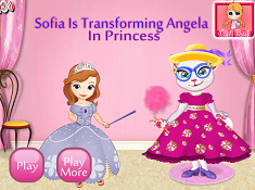 Sofia is Transforming Angela in Princess