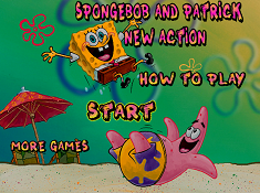 Spongebob and Patrick New Action