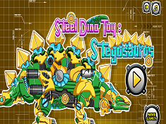 Steel Dino Toy Stegosaurus