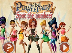 TinkerBell and the Pirate Fairy Spot The Numbers