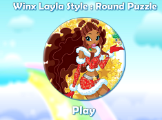 Winx Layla Style Round Puzzle