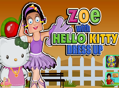 Zoe With Hello Kitty Dress Up