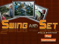Alice in Wonderland Swing and Set