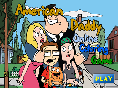 American Daddy Coloring