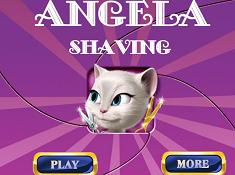 Angela Shaving