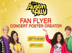 Austin and Ally Concert Poster Creator