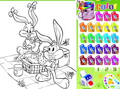 Baby Bugs Bunny and Friend Coloring