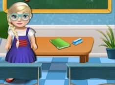 Baby Elsa School Decorate