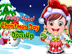 Baby Hazel Christmas Day Dressup