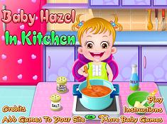 Baby Hazel in Kitchen