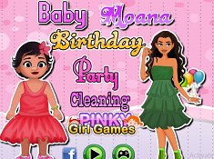 Baby Moana Party Cleaning