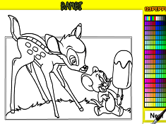 Bambi and Jerry Coloring