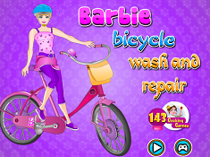 Barbie Bicycle Wash And Repair