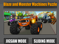 Blaze and Monster Machines Puzzle