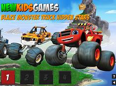 Blaze Monster Truck Hidden Stars