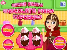Cerise Hood Chocolate Fairy Cupcakes