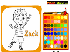 Coloring Zack and Quack Characters