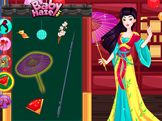 Cute Mulan Royal Dress up