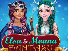 Elsa and Moana Fantasy Hairstyles