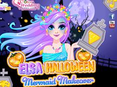 Elsa Halloween Mermaid Makeover