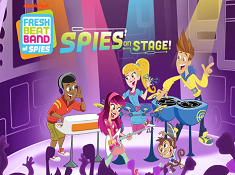 Fresh Beat Band of Spies on Stage