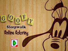 Goofy Sleepwalk Online Coloring