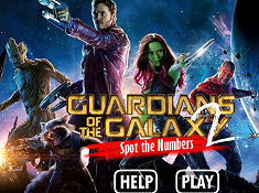 Gurdians of the Galaxy 2 Spot the Numbers