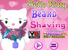 Hello Kitty Beard Shaving