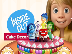Inside Out Cake Decor