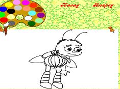 Luntik Paint Bee