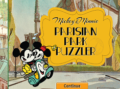 Mickey and Minnie Parisian Park Puzzler