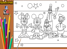 Mickey Mouse Club Coloring