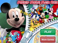 Mickey Mouse Math Quiz