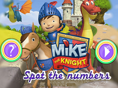 Mike The Knight Spot the Numbers