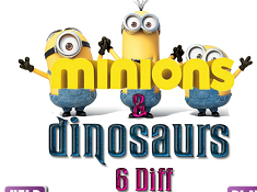 Minions and Dinosaurs 6 Diff