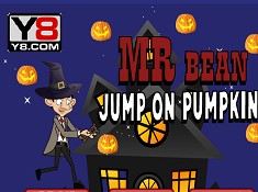 Mr Bean Jump on Pumpkin