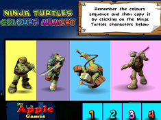 Ninja Turtles Colours Memory