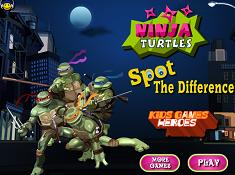 Ninja Turtles Spot the Differences
