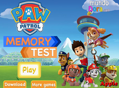 Paw Patrol Memory Test