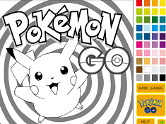 Pokemon Go Pikachu Coloring