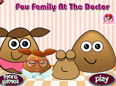 Pou and Family at the Doctor