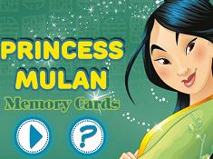 Princess Mulan Memory Cards