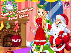 Santas Daughter Home Alone