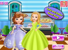 Sofia And Amber Sweet Shop