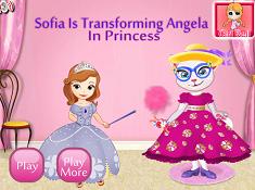 Sofia is Transforming Angela in Princess